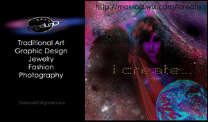 MaeLoD Business card (front) by MaeLoD