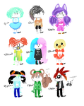 15 Points Each Adoptables 3/9 OPEN by Bovv