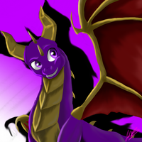 Gift : Spyro the ourple Dragon by YukineKuro