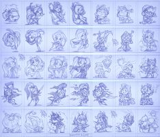 Valentine's sketch pack. League of Legends by PinkaCat
