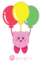 Rainbow Balloon Kirby for Pandaomgwtf ::GIFT:: by Itachi-Roxas