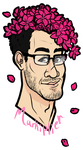 Markiplier Cherry Blossoms by MissWiggleButt