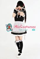 Japanese Summer Maid Costume by miccostumes