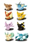 Eeveelutions by Silly-Da-Billie