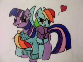 Ponies with sweaters by My-little-Brony