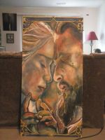 Game of Thrones Painting by Marczsewski