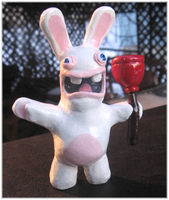 Rabbid Sculpture by HollieBollie