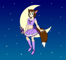 BJ as a magical coyote neco girl by Bjnix248