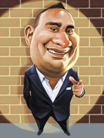 Russell Peters Caricature by chngch