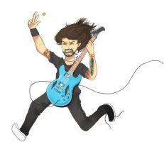 Dave Grohl Rocks by lindaleia