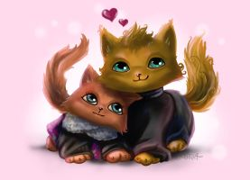 Just us as cats by Mirella-Gabriele