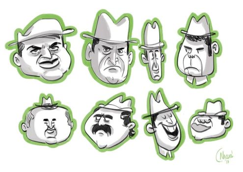 Character design man with hat by ClaudioNaccari