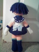 Crochet Sailor Mercury (Back) by Maw1227