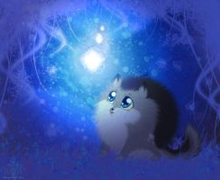 :Blue forest: by BrownWolF-Ann