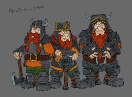 Bifur, Bofur and Bombur in armour by Mara999