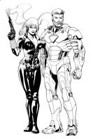 Iron Man and Black Widow NYCC by RobertAtkins