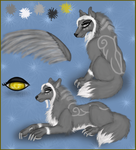 Asena Character Ref by WinterHallow