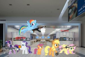 Me and the crew taking over Apple by pewdie-scootaloo
