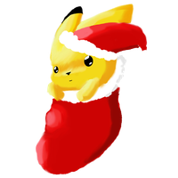 Christmas Pikachu by ina0601