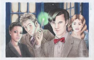 Dr Who - Martha-10th Doctor-11th Doctor-Clara by DenaeFrazierStudios
