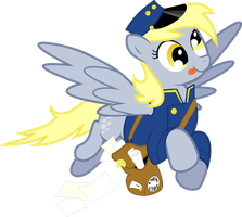 Derpy Mail Pony by masemj