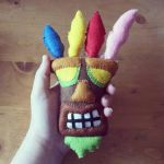Handmade Mini Aku Aku Mask by sfxbecks