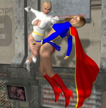 Galatea vs. Supergirl 3 by cattle6