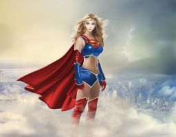 Ame-Comi Supergirl by cmeza