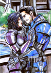 Commission - Nick Shepard and Kaidan Alenko by anne-wild