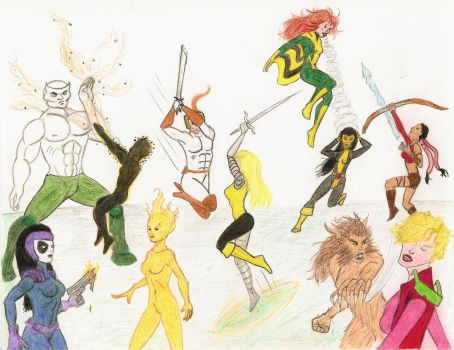 New Mutants Versus X-Force by tapwater86