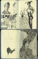 Sketchbook pages by Roman-Stevens