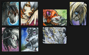 ATC.:Various Mythos:. by WhiteSpiritWolf