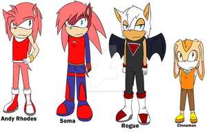 Genderbent Sonic girls Pt. 1 by blueangelrose97