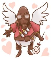 TF2 Angel Pyro doodle by Shuka-the-Echigoya