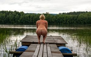 My wife and her big butt at the lake by Grister