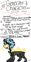 Song Character Generator meme by flynnmutt