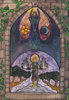 Stained Glass Window by hiddenwriterspirit