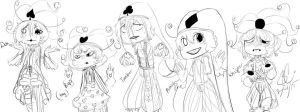 Midnight Circus: Clowns by Chibi-Works