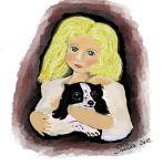 girl with dog by susanaprats