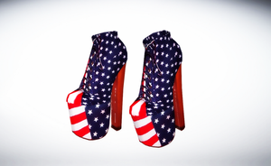 Jeffrey Campbell AMERICAN Flag shoes by amiamy111