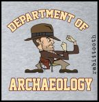 Dept. of Archaeology with Fighting Mascot T shirt by Rabittooth