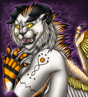 Proca - Halloween Bust Commish by kcravenyote