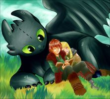 HTTYD - Lazy afternoon. by kitsune999