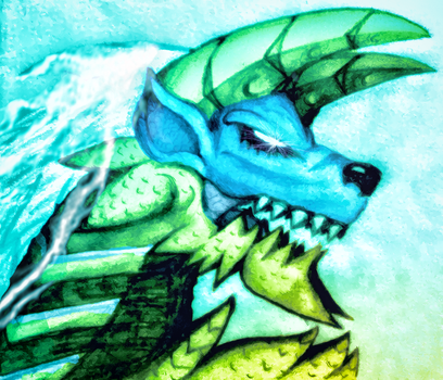 The Fierce Thunder Wolf Zinogre by Kane-Dendou