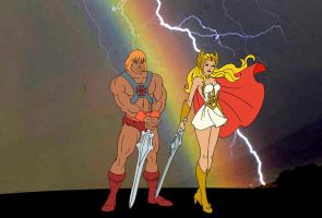 He-man e She-ra by FaGian