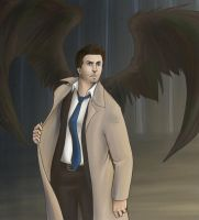 SUPERNATURAL: Castiel by tattiOsala