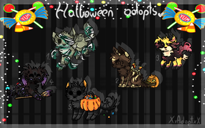 Halloween Adopts CLOSED by XxAdoptxX