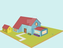 Cute house made in illustrator by ladysheep