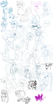 2012 Pony Sketch Dump by PumpkinHipHop
