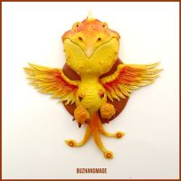 Phoenix Dragon #11 - Polymer Clay Charm by buzhandmade